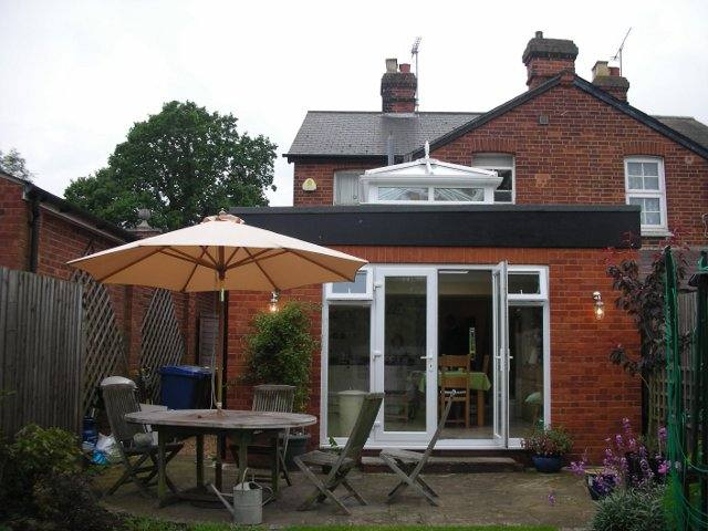 Kitchen Extension in Binfield, Berkshire, including roof lanterns AFTER